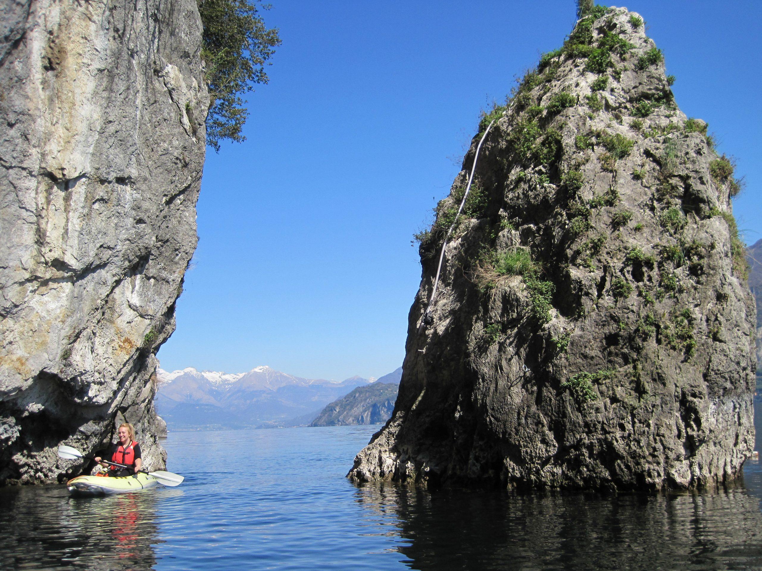 Kayaking on Lake Como