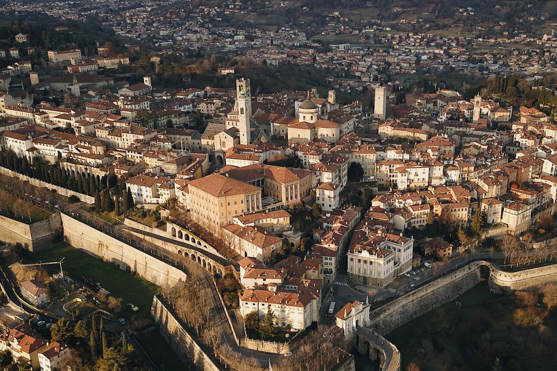 The walls of Bergamo Alta