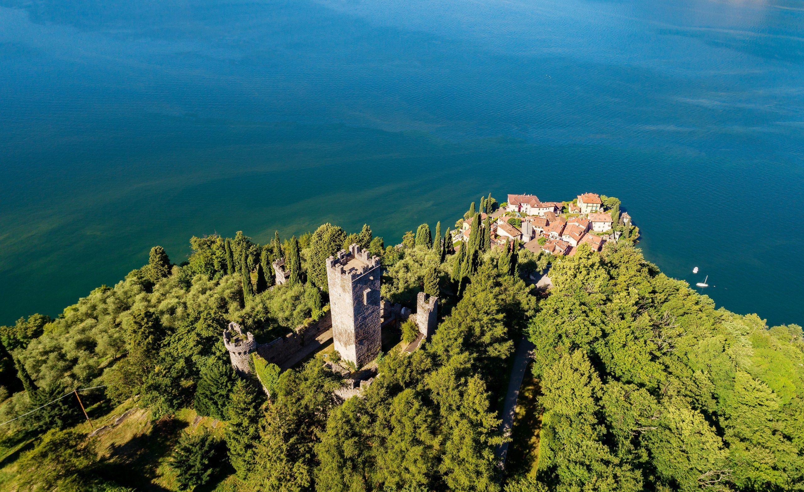 Castello Di Vezio Varenna Lago Di Como (IT) Vista Aerea