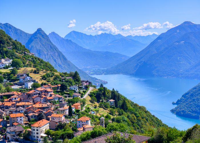 Lugano and its lake