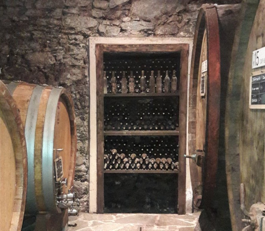 Valtellina wine barrel
